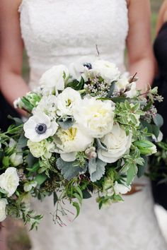 white anemones - Dripping Springs wedding at Vista West Ranch by Forever Photography Studio