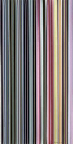 Alice Tully Hall Sampler Artist: Gene Davis Completion Date: 1961 Style: Color Field Painting Genre: abstract