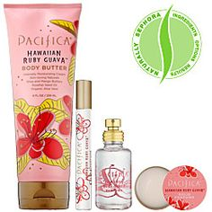 Pacifica Hawaiian Ruby Guava. I have never received more compliments than when I wore this lotion or solid perfume. A bright, rich citrus toned down by hints of coconut and guava. Island perfect and oh so moisturizing.