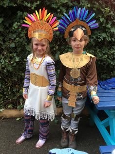 Mayan Costume for Kids Dress Up Day - DIY costumes by outsmart-learning