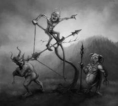 Evil's Sons Arrow Shooting by TeroPorthan on DeviantArt Arrow Shooting, Forms Of Poetry, Evil Demons, Iron Mountain, Mythical Creatures, Folklore, Dark Art, Mythology, Beast