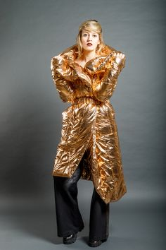 Gold Jacket, Dip Dye, Fabric, Red, How To Make, Jackets, Copper, Clothes, Collection
