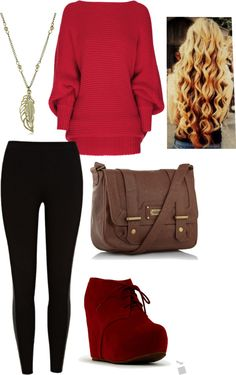 """""""Lady in red"""" by signandsymptom on Polyvore"""