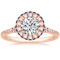 14K Rose Gold Circa Diamond Ring with Sapphire Accents from Brilliant Earth! This is beautiful!!!! I love this.
