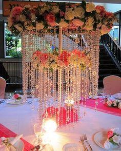 beautiful wedding table centerpiece