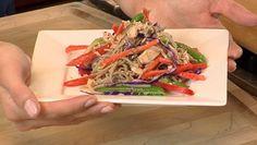 Albacore tuna and Soba noodle salad | #sustainable #seafood #recipe