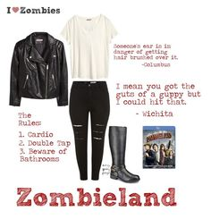 """Zombie Love Week: Zombieland"" by curvygeekyfangirl ❤ liked on Polyvore featuring H&M"