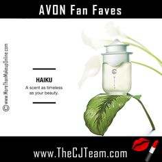 Meet our stars! Shop Avon top rated products with our Fan Faves!  Shop the Avon products consistently ranked highest by our most valued beauty expert – YOU!  See what the hype's about.  This week's favorites include Haiku, True Color and Anew!  Free shipping on orders of $40 or more.  #TrueColor #Anew #AvonFragrance #FanFaves #AvonFanFaves #FanFavorites #BeautyBoss #CJTeam #FreeShipping #C10 Shop Avon Fan Favorites online @ www.TheCJTeam.com