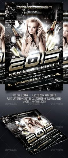 NYE Party Flyer  #GraphicRiver         the black and elegant flyer, perfect for your NYE party or any events  Easy To customize color and Text 300 DPI CMYK Ready to print Layered and Organized in Folders with 0.25 bleed                     Created: 15December12 GraphicsFilesIncluded: PhotoshopPSD #JPGImage Layered: Yes MinimumAdobeCSVersion: CS3 PrintDimensions: 4.25x6.25 Tags: ball #black #champagne #club #dove #elegant #endyear #event #flyer #glass #gold #newyear #nye #party #poster…