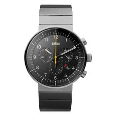 e95feb8e29e Braun Gents BN0095 Prestige Chronograph Watch with Stainless Steel Bracelet  Fashion Watches