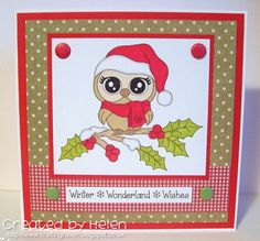 Using 'Owl-Ways Winter' by StampArt Design by Kathryne