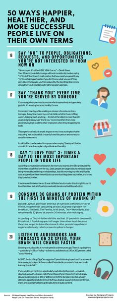 Infographics: 50 Ways Happier, Healthier, And More Successful People Live On Their Own Terms — Life Learning — Medium