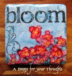 A Penny for your Thoughts: Lots to Do Challenge - Alcohol Inks