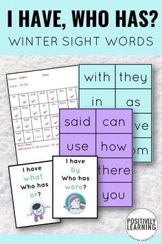Sight Word Game plus Snowmen! Strengthen sight words social skills in your small groups for reading. From Positively Learning #sightwords #guidedreading #snowmen