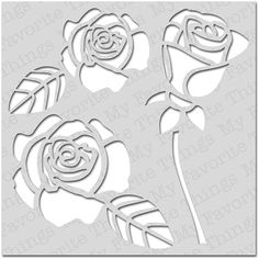 My Favorite Things Mix-ables Stencil. Rose Builder