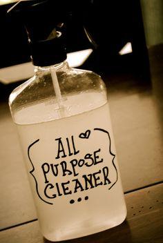 Diy all purpose cleaner 2 c warm water 1/2 c white vinegar 1 tsp pure castile soap 3/4 c hydrogen peroxide 20 drops tea tree oil 20 drops lavender essential oil