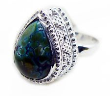 Turquoise 925 Sterling Silver Ring elegant Multi handcrafted AU KMOQ