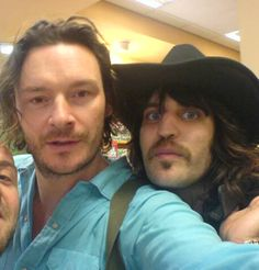Julian and Noel and mustache