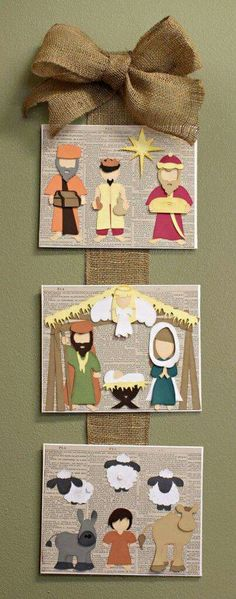 In a Manger Cutting Collection: WPC, AI, and SVG cutting files Away In a Manger Nativity Scene Wall Hanging SVG Cutting File CollectionAway In a Manger Nativity Scene Wall Hanging SVG Cutting File Collection Nativity Crafts, Christmas Projects, Holiday Crafts, Nativity Clipart, Noel Christmas, Christmas Nativity, Christmas Ornaments, Felt Ornaments, Idees Cate
