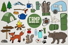 Camping Clipart II  Fox clipart wilderness by LemonadePixel