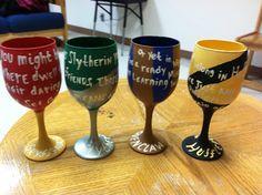 D.I.Y Harry Potter wine glasses!