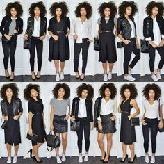 "Looks from my recent monochrome capsule wardrobe style ideas video"" ""Capsule wardrobe styling. Looks from my recent monochrome capsule wardrobe style ideas video"" Capsule Outfits, Fashion Capsule, Mode Outfits, Fall Outfits, Fashion Outfits, Fashion Trends, Capsule Wardrobe Winter, Travel Wardrobe, Trendy Fashion"