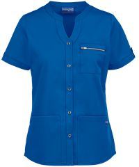 Look sophisticated and stylish with the UA Butter-Soft STRETCH Button Down Scrub Top. Buy blouse scrub tops at Uniform Advantage today! Scrub Jackets, Womens Scrubs, Front Bottoms, Scrub Pants, Drawstring Pants, Scrub Tops, Black Print, Button Downs, Ua