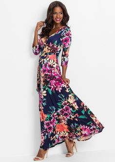 b45a7311e57 Floral print maxi dress