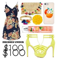 """under $100 dress"" by mexie ❤ liked on Polyvore featuring Charlotte Russe, Joie, Kate Spade, Aqua, Illamasqua, set, dress and under100"