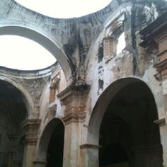 Ruins at Antigua, Guatemala. Had a nice little tour in the rain by a local.