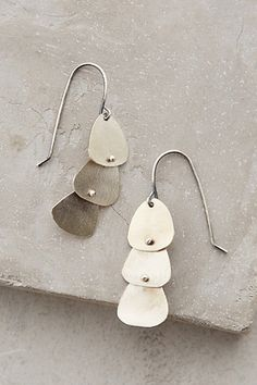 Swivel Earrings #anthrofave #anthropologie you could totally make these out of guitar picks