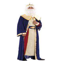 DisfracesMimo, disfraz de rey melchor deluxe adulto. Es perfecto para celebraciones navideñas, tales como belenes vivientes,desfiles o las tradicionales representaciones escolares.Este disfraz es ideal para tus fiestas temáticas de disfraces reyes magos adulto