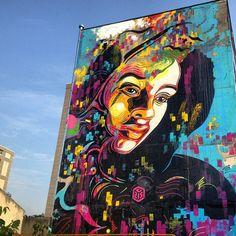 Nouveau mur de C215 à Ivry-sur-Seine - www.street-art-avenue.com