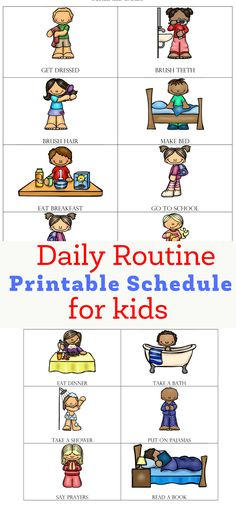 Are you looking to help your child establish a routine? Be sure to check out my free daily routine printable schedule for kids. | free printable schedule | free visual schedule | visual schedule for kids | visual schedule for kids with autism | visual schedule for autistic kids