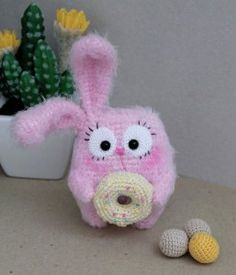 Bunny with donut crochet pattern