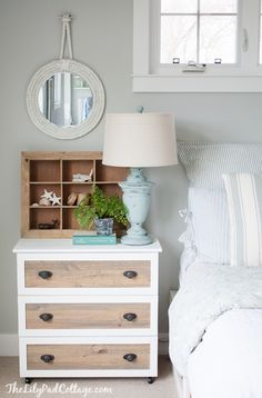 IKEA Hack - Tarva Dresser into coastal night stands.