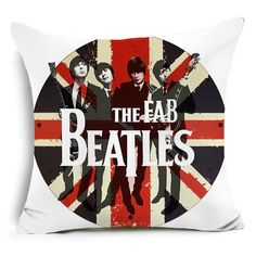 The Beatles Polyester Cushion Cover Band Home Decorative Pillows Cover (FREE SHIPPING)
