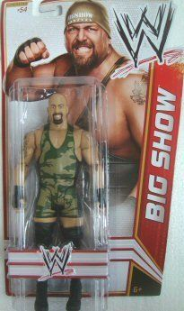 "WWE Big Show Figure Series 21 by Mattel. $15.31. Features extreme articulation, amazing accuracy, and authentic details. Bring home the officially licensed WWE action. Collect all your favorites WWE Superstars. WWE Series #21 action figures in 7"" Superstar Scale. Kids can recreate their favorite WWE matches. From the Manufacturer                World Wrestling Entertainment Figure Series #21: Bring home the action of the WWE. Kids can recreate their favorite matches w..."