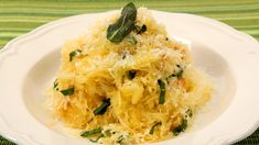 Spaghetti Squash with Herb Butter. Spaghetti squash, so named because its flesh comes apart in long strands when cooked, gets dressed up in an easy way for a satisfying side dish. Veggie Dishes, Vegetable Recipes, Side Dishes, Pasta Dishes, Cooking Recipes, Healthy Recipes, Clean Recipes, Pasta Recipes, Delicious Recipes