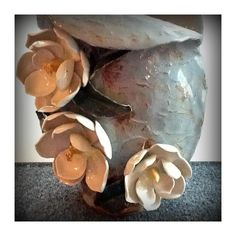Remember this beauty from our Garden Party?  We'll be highlighting more of ceramic artist Jill Leach's wonderful floral creations at our September Gallery Walk! #firstfridays #southport #magnolias #pottery