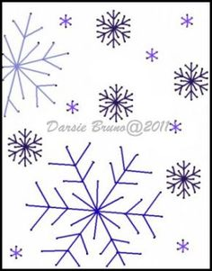 Snowflakes Snowfall Winter Christmas Embroidery Pattern by Darse, $1.50