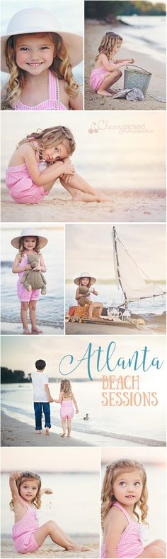 Beautiful beach photo session on Lake Lanier. Atlanta Child Photography and family photography with Cherry Picked Photography & Art. Lake sessions make the beach closer than you think!