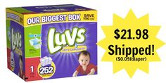 Luvs Diapers Only $0.09 per Diaper Shipped!