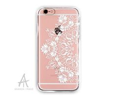 iPhone 6S Case Clear with Design 6 Case White by AnandaImage