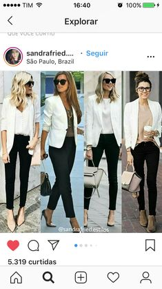 business mode damen blazer and tshirt outfit Blazer Outfits Casual, Classy Outfits, Chic Outfits, Fall Outfits, Summer Outfits, Fashion Outfits, White Jacket Outfit, Blazer Fashion, Outfits With White Blazer