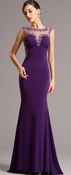 Elegant Purple Formal Gown
