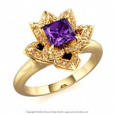 Amethyst Amethyst Amethyst #lotus #ring #customizable #jewelry