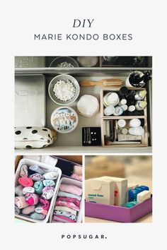 How to KonMari Your Entire Home Without Wasting Money on Storage Containers Vanity Drawers, Dresser Storage, Storage Containers, Storage Boxes, Baby Wipes Container, Clear Bins, Trash Party, Tool Organization, Organization Ideas