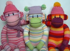 Here are gang of my latest monkey creations! see my profile for more details