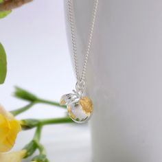 You're my apple with a golden bite!  Our apple charm has been cast in solid Sterling Silver then plated with 24ct gold on its little bite mark.